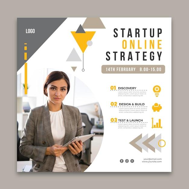 Modelo de folheto quadrado para negócios em geral Vetor grátis