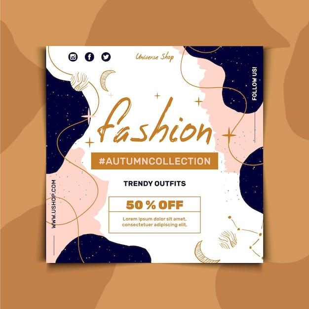 Modelo de folheto quadrado para venda de moda Vetor grátis