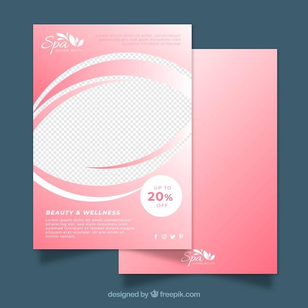 Modelo de folheto rosa spa Vetor grátis