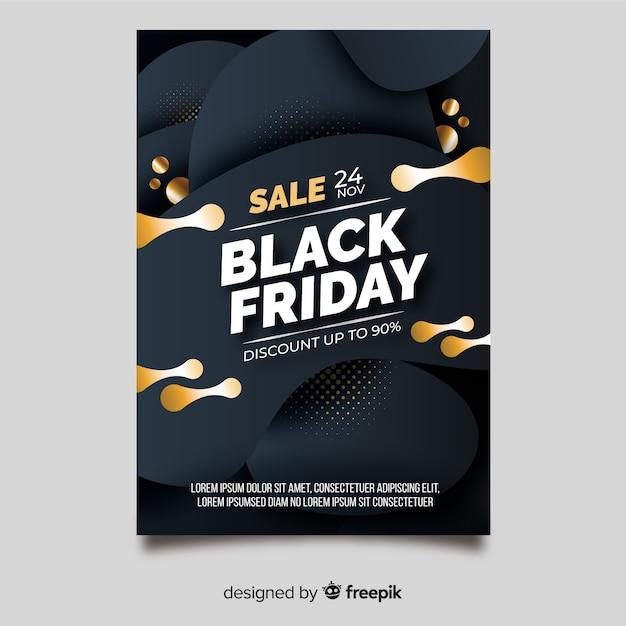 Modelo de folheto - sexta-feira negra de design plano Vetor grátis