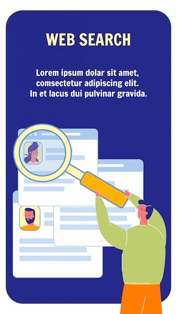 Modelo de folheto vetor web pesquisa com espaço de texto Vetor Premium