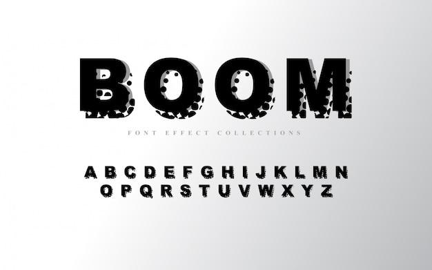 Modelo de font - alfabeto abstrato Vetor Premium