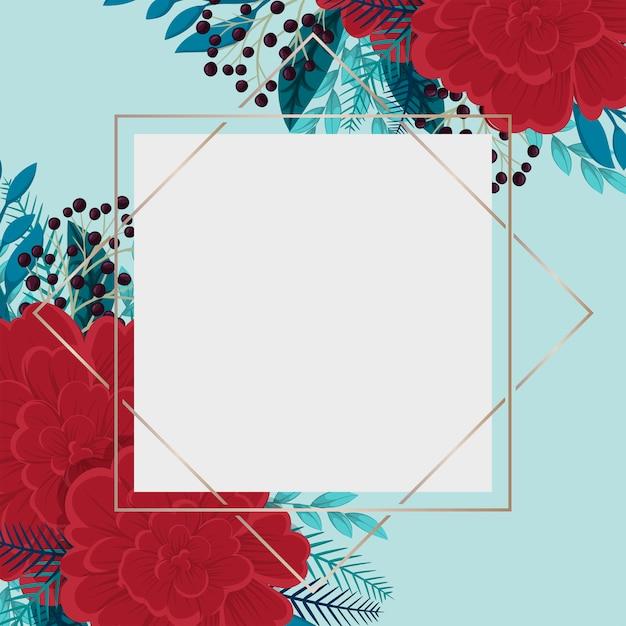 Modelo de fronteira de flor Vetor grátis
