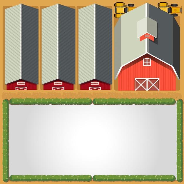 Modelo de fronteira rural fazenda Vetor grátis
