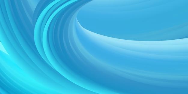 Modelo de fundo de onda fluida de cor azul abstrato Vetor Premium