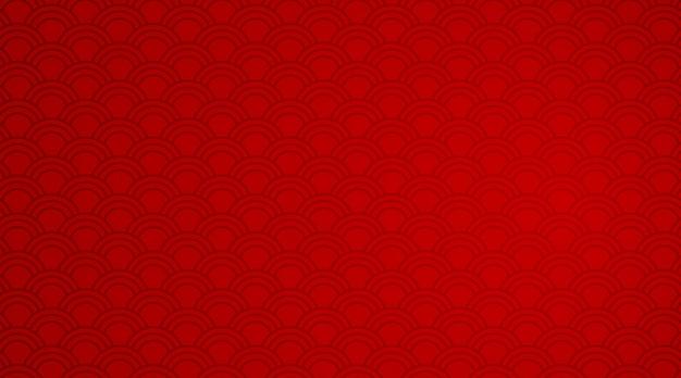 Modelo de fundo vermelho com padrões de onda Vetor grátis