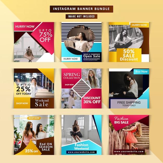 Modelo de história de moda do instagram Vetor Premium