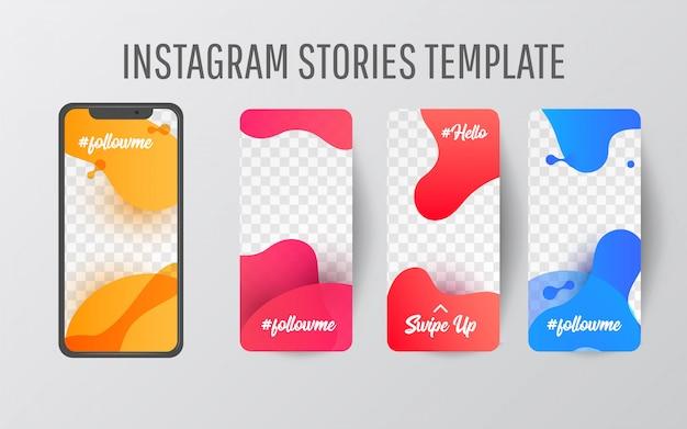 Modelo de história do instagram para mídias sociais Vetor Premium