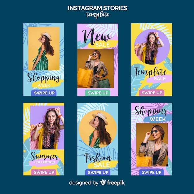 Modelo de histórias do instagram de venda de verão Vetor grátis