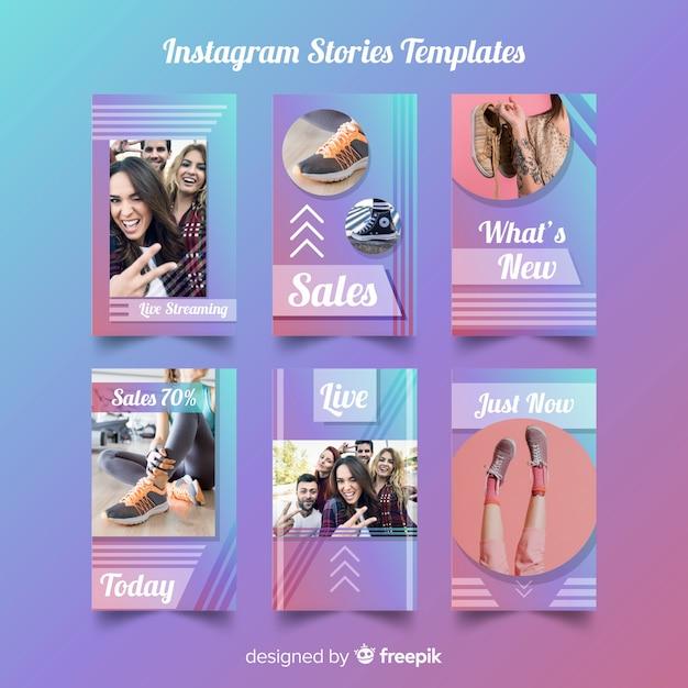 Modelo de histórias do instagram Vetor grátis