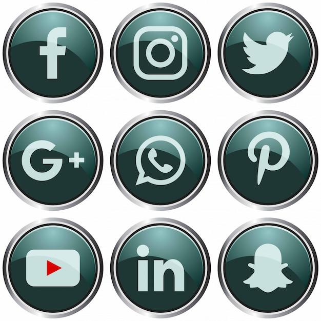 Modelo de ícone de mídia social. Vetor Premium