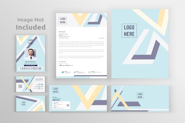 Modelo de identidade de marca corporativa Vetor Premium