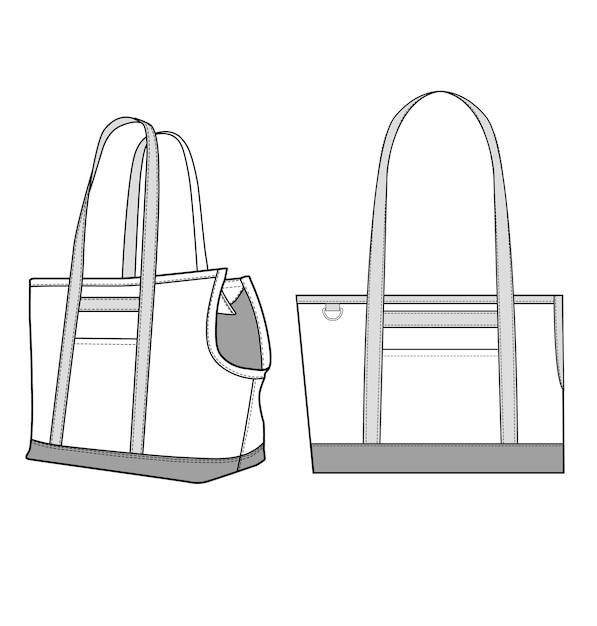 Modelo de ilustração de design de sacola vector Vetor Premium