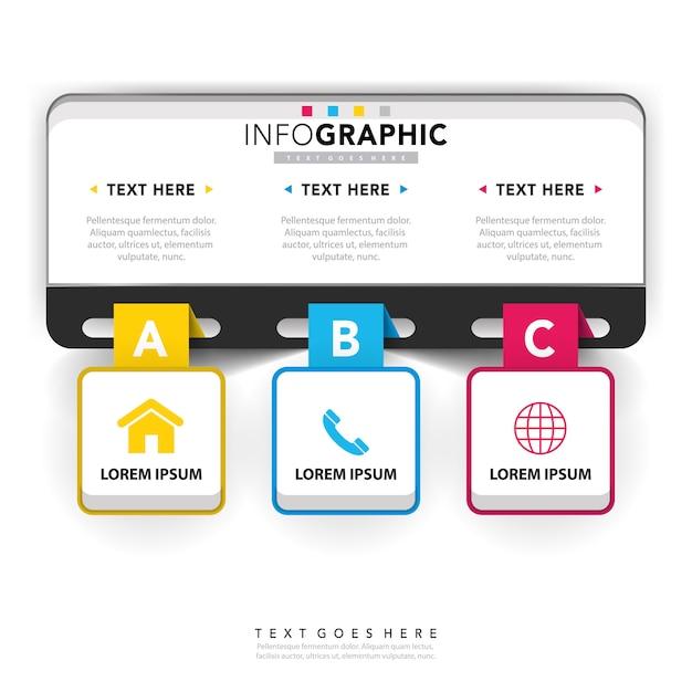 Modelo de infográfico corporativo Vetor grátis