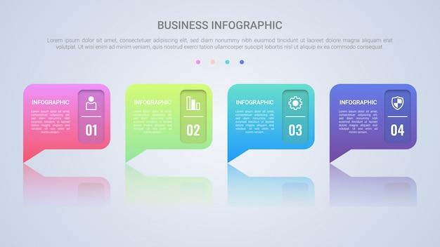 Modelo de infográfico de discurso de bolha Vetor Premium