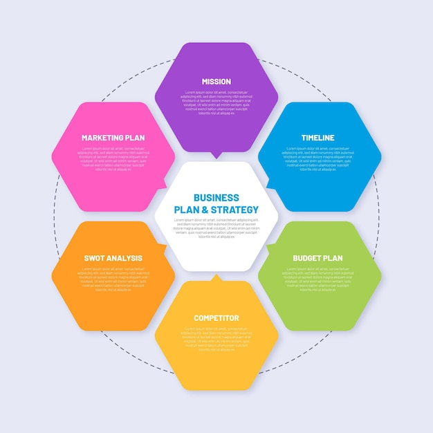 Modelo de infográfico de estratégia de favo de mel Vetor grátis