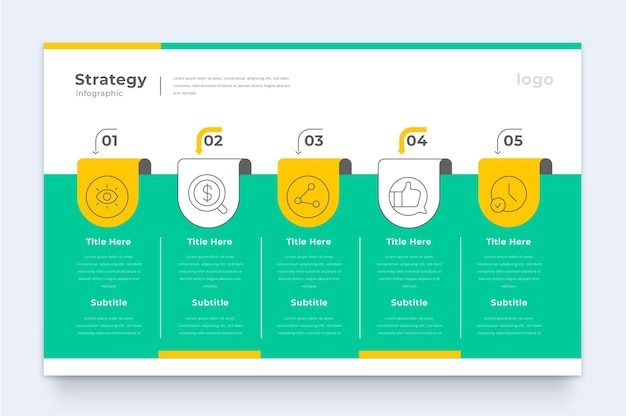 Modelo de infográfico de estratégia de negócios Vetor grátis