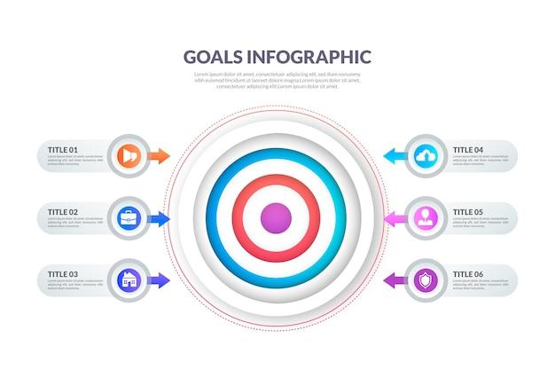 Modelo de infográfico de metas Vetor grátis