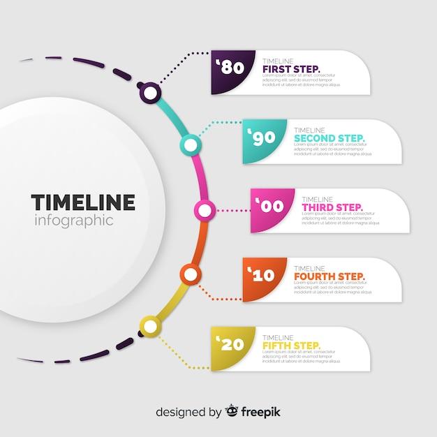 Modelo de infográfico de negócios corporativos, composição de elementos infográfico Vetor grátis