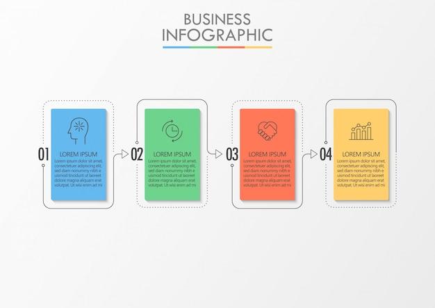 Modelo de infográfico de negócios de apresentação Vetor Premium