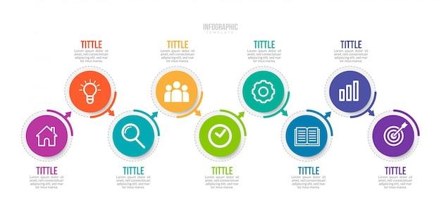 Modelo de infográfico de negócios Vetor Premium