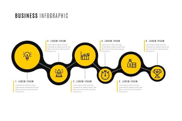 Modelo de infográfico de negócios Vetor grátis