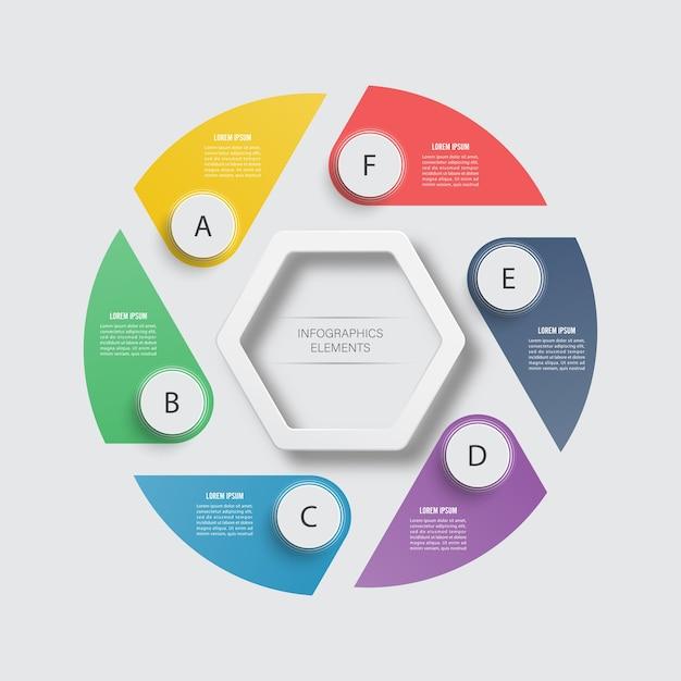 Modelo de infográfico de negócios. Vetor Premium