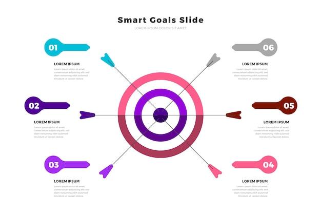 Modelo de infográfico de objetivos Vetor grátis