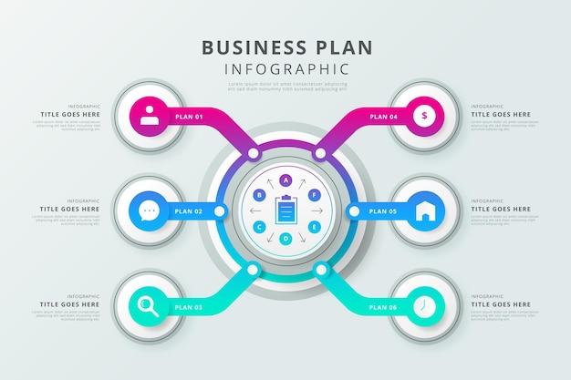 Modelo de infográfico de plano de negócios Vetor grátis
