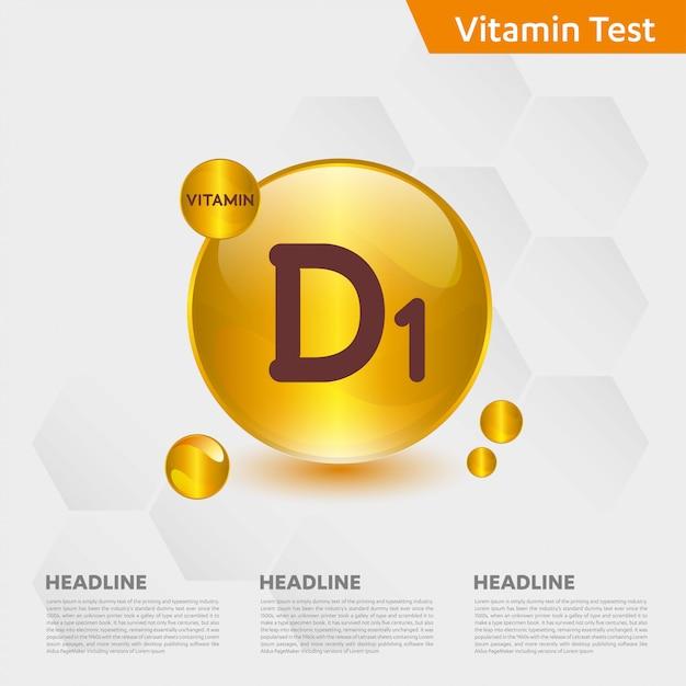 Modelo de infográfico de vitamina d1 Vetor Premium