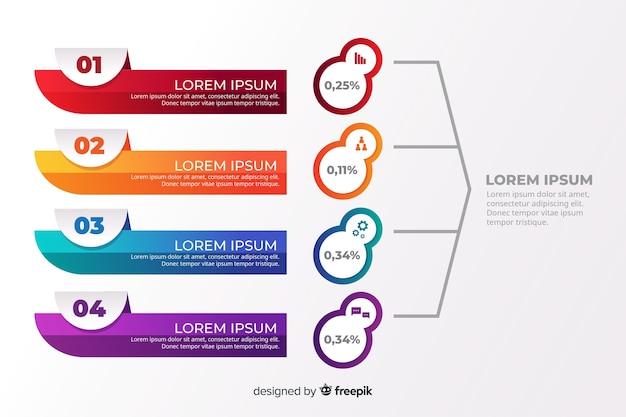 Modelo de infográfico em estilo gradiente Vetor grátis