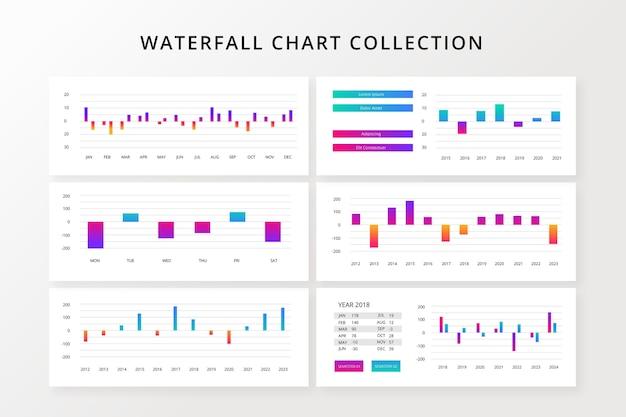 Modelo de infográfico gradiente cachoeira Vetor grátis