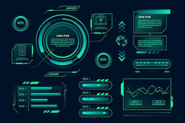 Modelo de infográfico inovador Vetor grátis