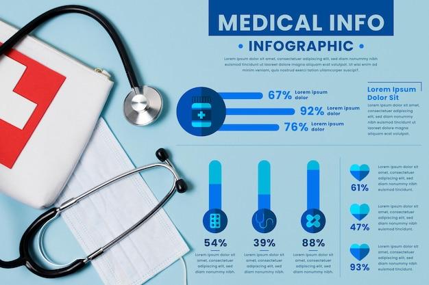 Modelo de infográfico médico Vetor grátis
