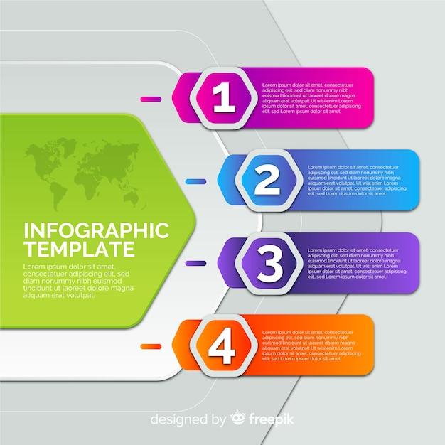 Modelo de infográfico Vetor grátis