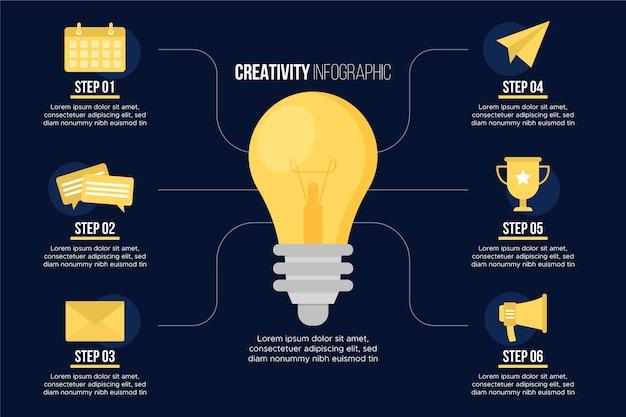 Modelo de infográficos de criatividade Vetor grátis