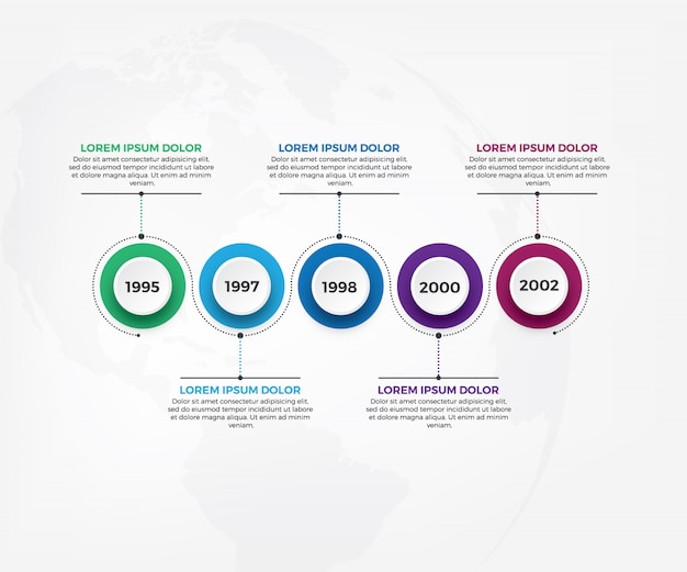 Modelo de infográficos de fluxo de trabalho de cronograma de negócios Vetor Premium