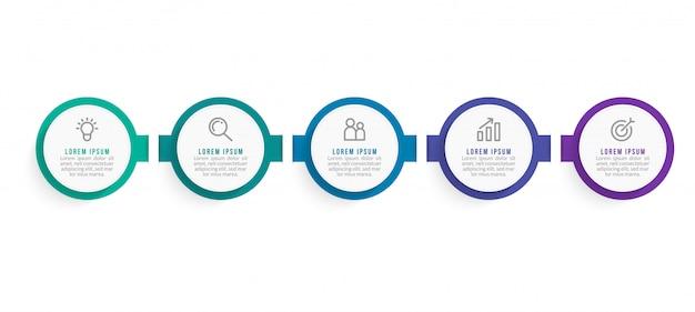Modelo de infográficos de negócios mínimo. linha do tempo com 2 etapas, opções e ícones de marketing Vetor Premium