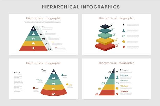 Modelo de infográficos hierárquicos Vetor grátis
