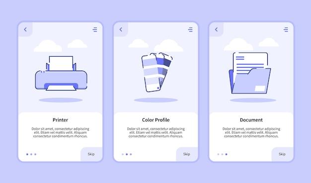 Modelo de integração para banner de aplicativos móveis Vetor Premium