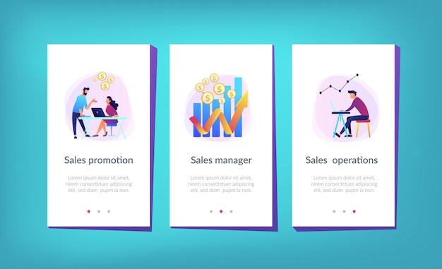 Modelo de interface de aplicativo de crescimento de vendas Vetor Premium