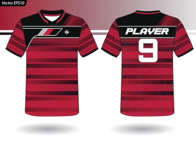 Modelo de jersey de esportes para uniformes de equipe Vetor Premium