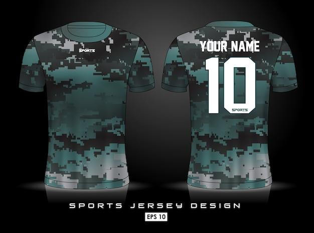 Modelo de jersey de esportes Vetor Premium