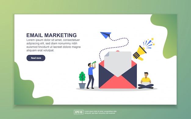 Modelo de landing page de email marketing. conceito moderno design plano de design de página da web para o site e site móvel Vetor Premium