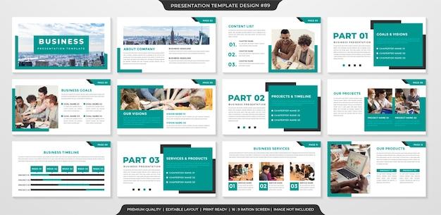 Modelo de layout de apresentação de negócios Vetor Premium