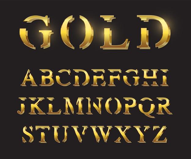 Modelo de letras douradas Vetor Premium