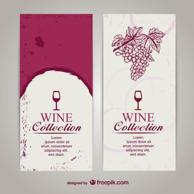 Modelo de lista vinhos Vetor Premium