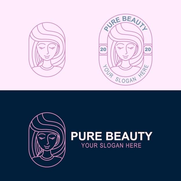 Modelo de logomarca de beleza Vetor Premium