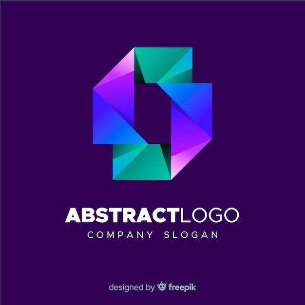 Modelo de logotipo abstrato colorido Vetor grátis