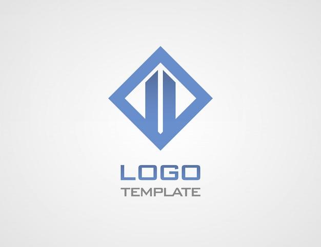 Modelo de logotipo abstrato de conceito de luxo de construção Vetor Premium
